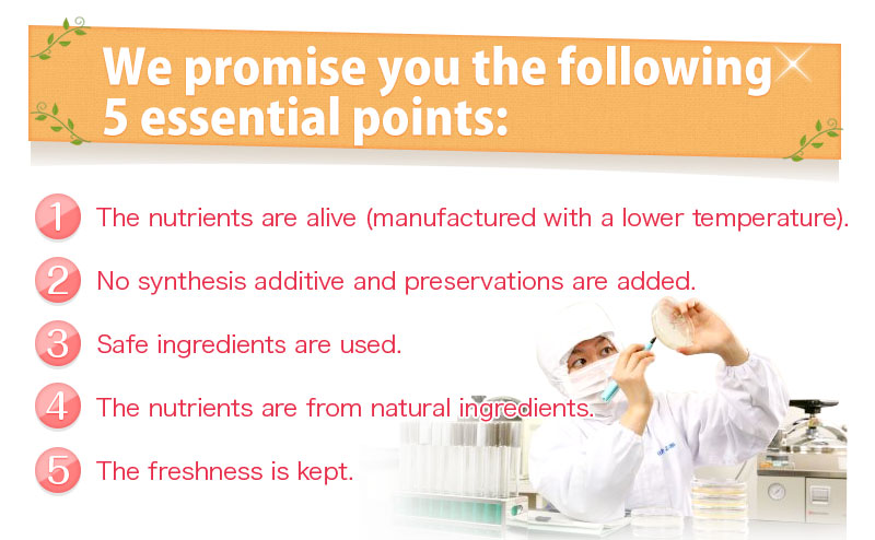 We promise you the following 5 essential points: